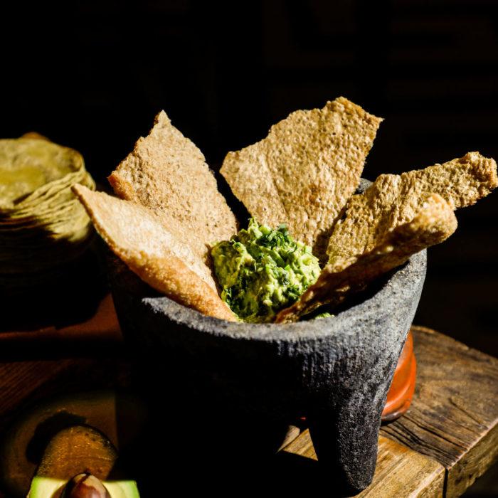 Chicharrón Fresco con Guacamole